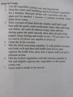Sayur Urab 2